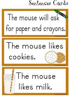If you give a mouse a cookie sentence cards -- lots of printables