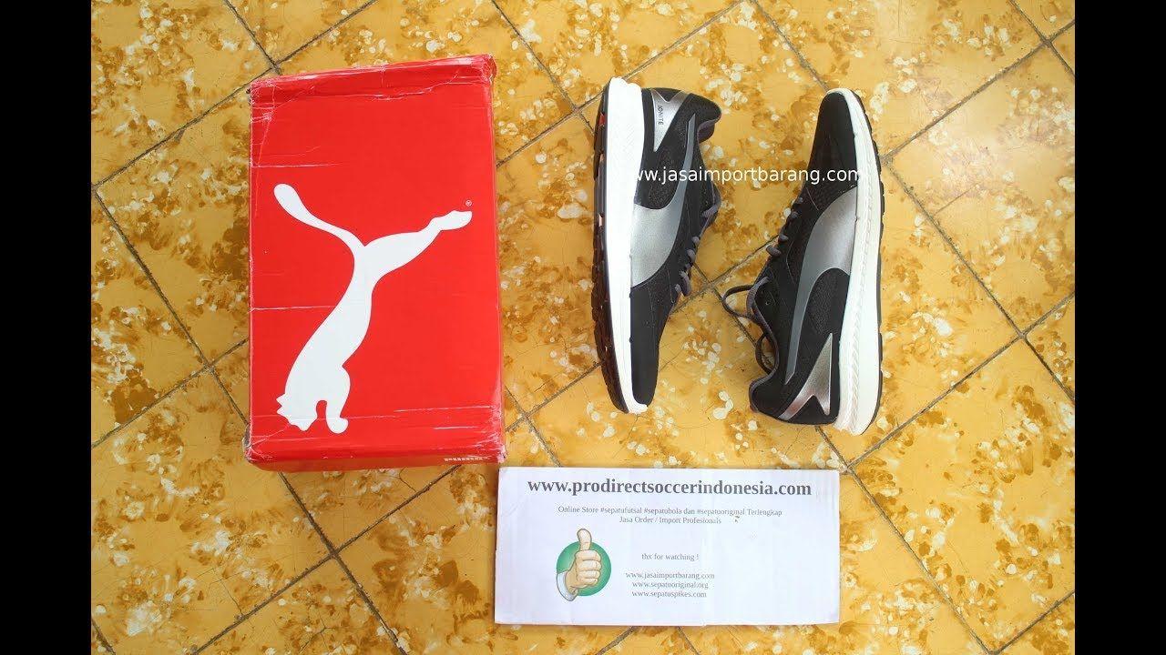 Sepatu Lari Puma Ignite Mesh Black Periscope 188584 04 Original