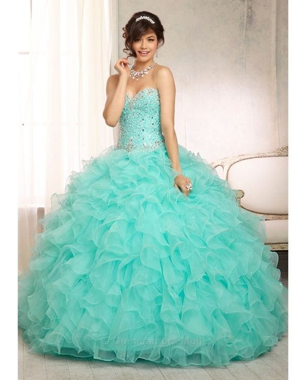 Teal quinceanera dresses images
