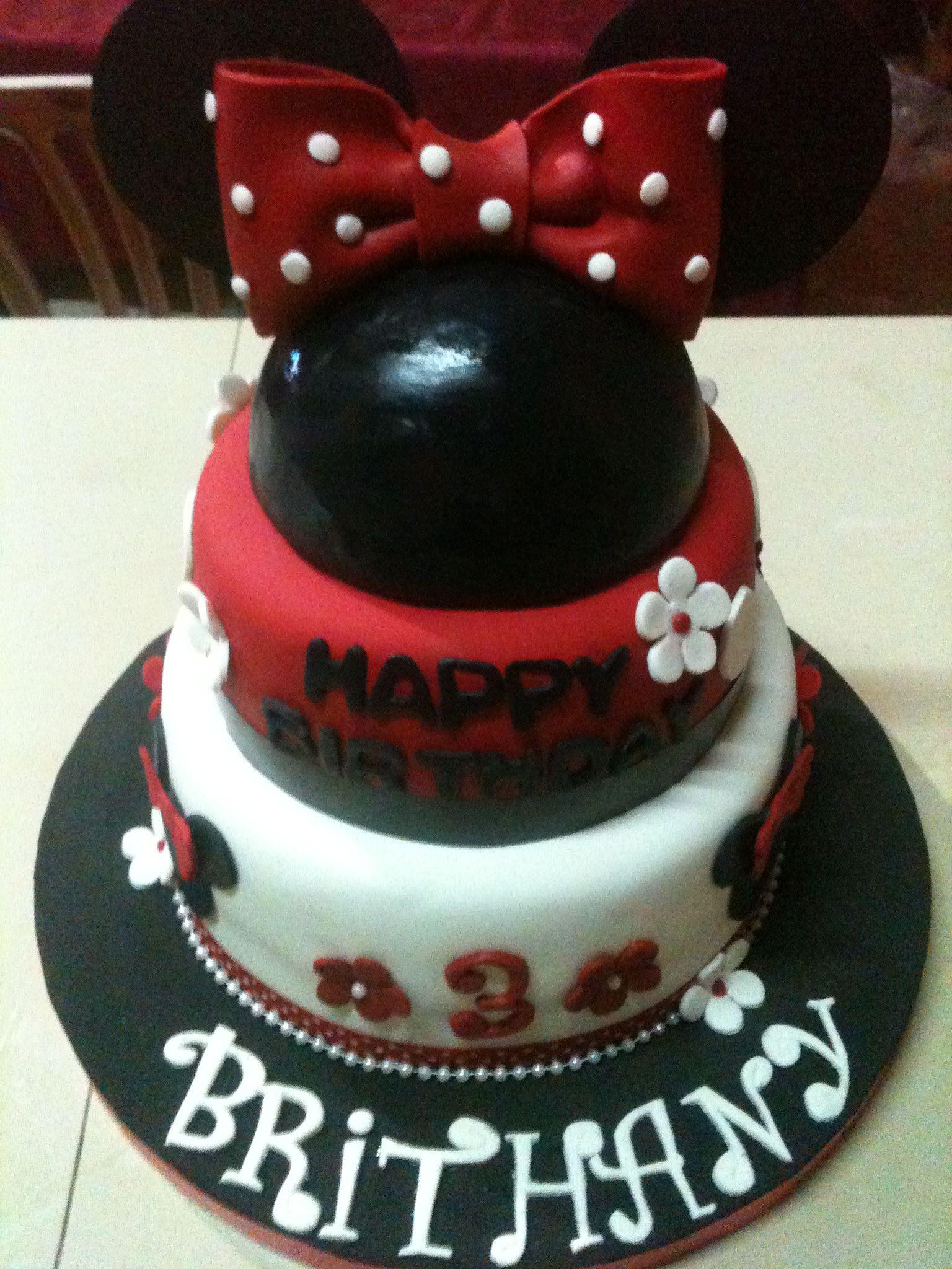 torta de minie mouse