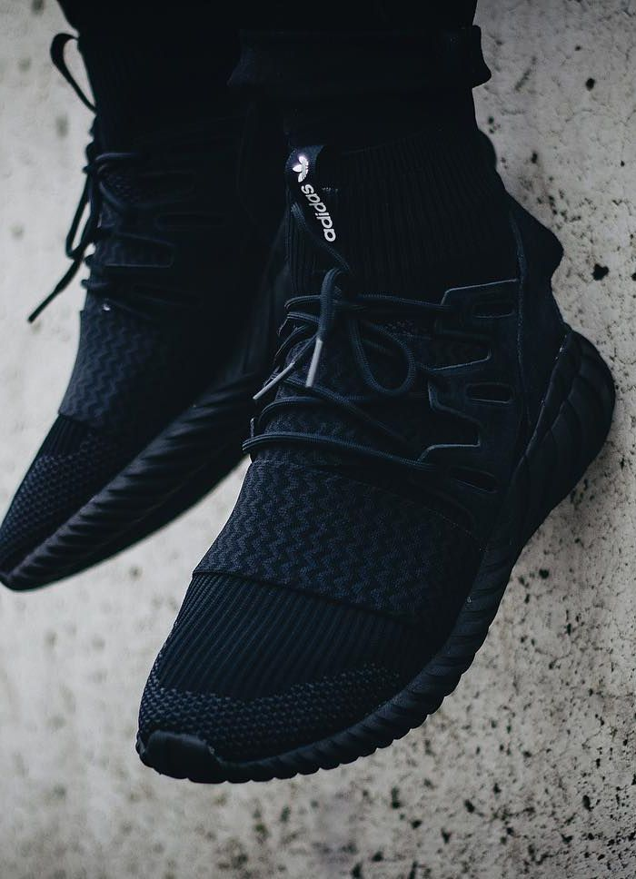 "unstablefragments2: ""adidas Tubular Doom PK 'Triple Black' (via Kicks-daily"