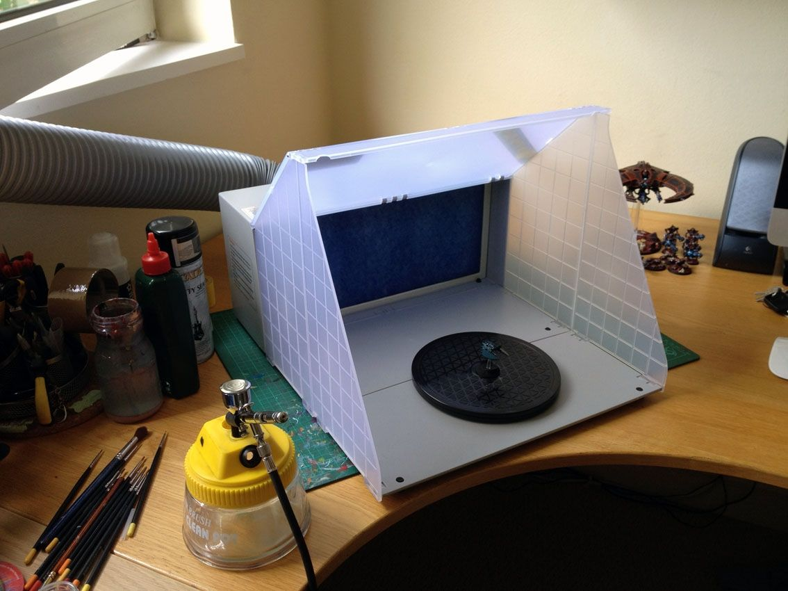Exhaust Fan For Hobby Spray Booth Spray booth, Airbrush