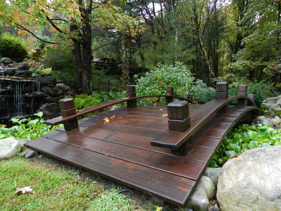Wood Plank Garden Bridge with Rails Wood planks Bridge and Mexicans