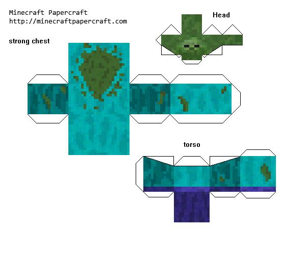 Papercraft Mutant Zombie Mutant Creatures Mod Minecraft Printables Creeper Minecraft Paper Crafts