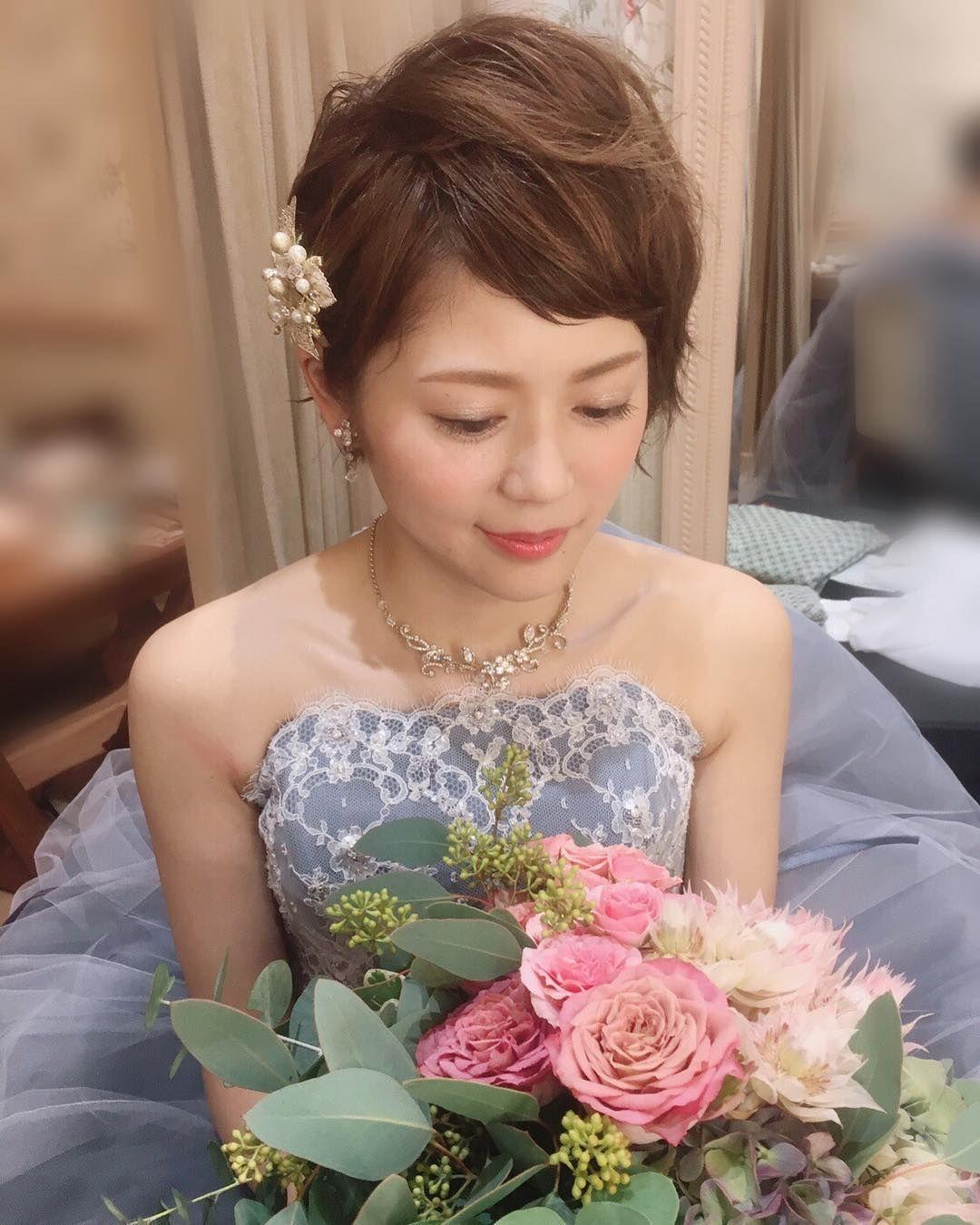 特別感あり ショートヘア の花嫁ヘアアレンジまとめ Marry