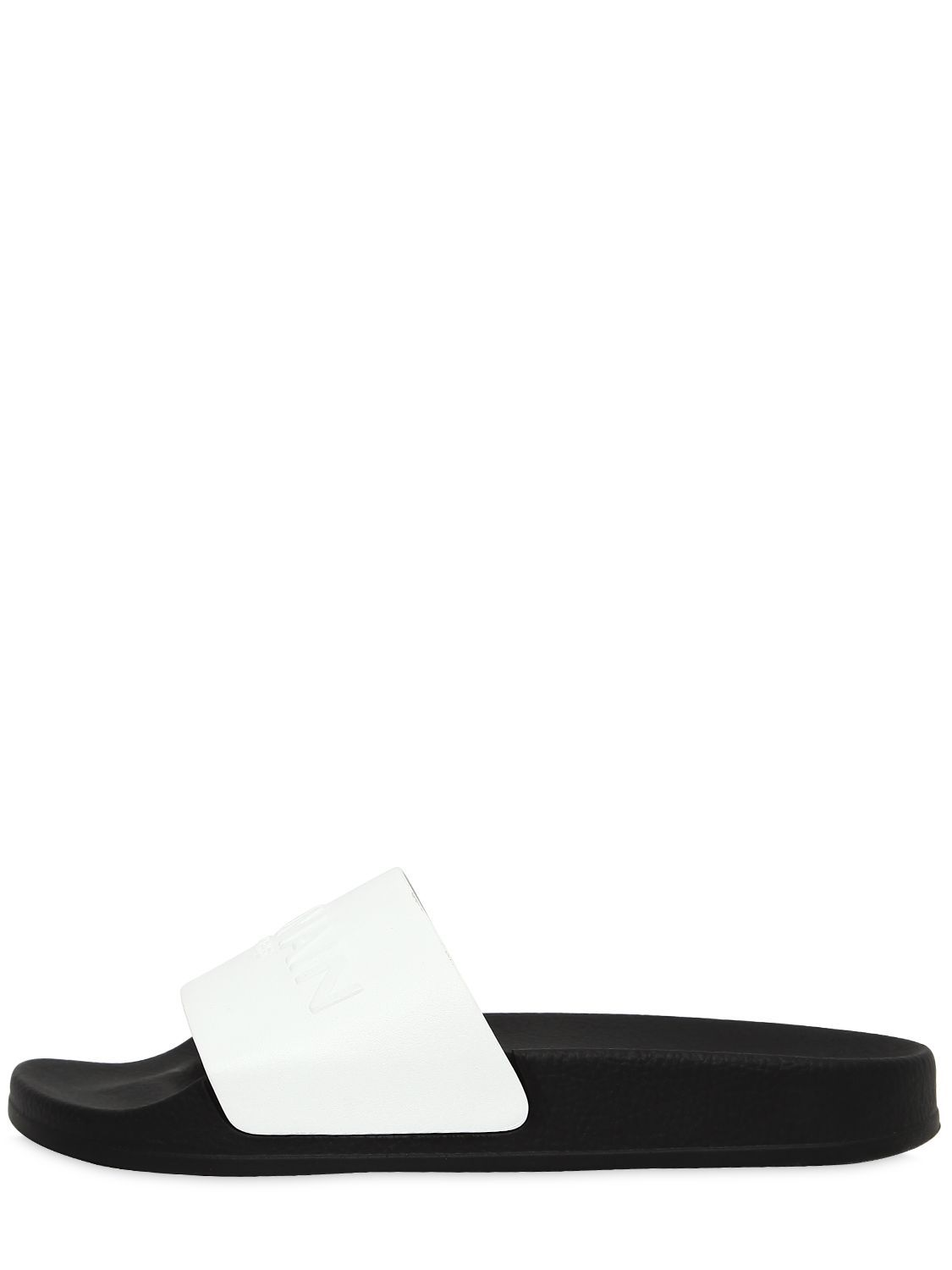 2d5a543e BALMAIN CALYPSO LOGO LEATHER SLIDE SANDALS. #balmain #shoes ...