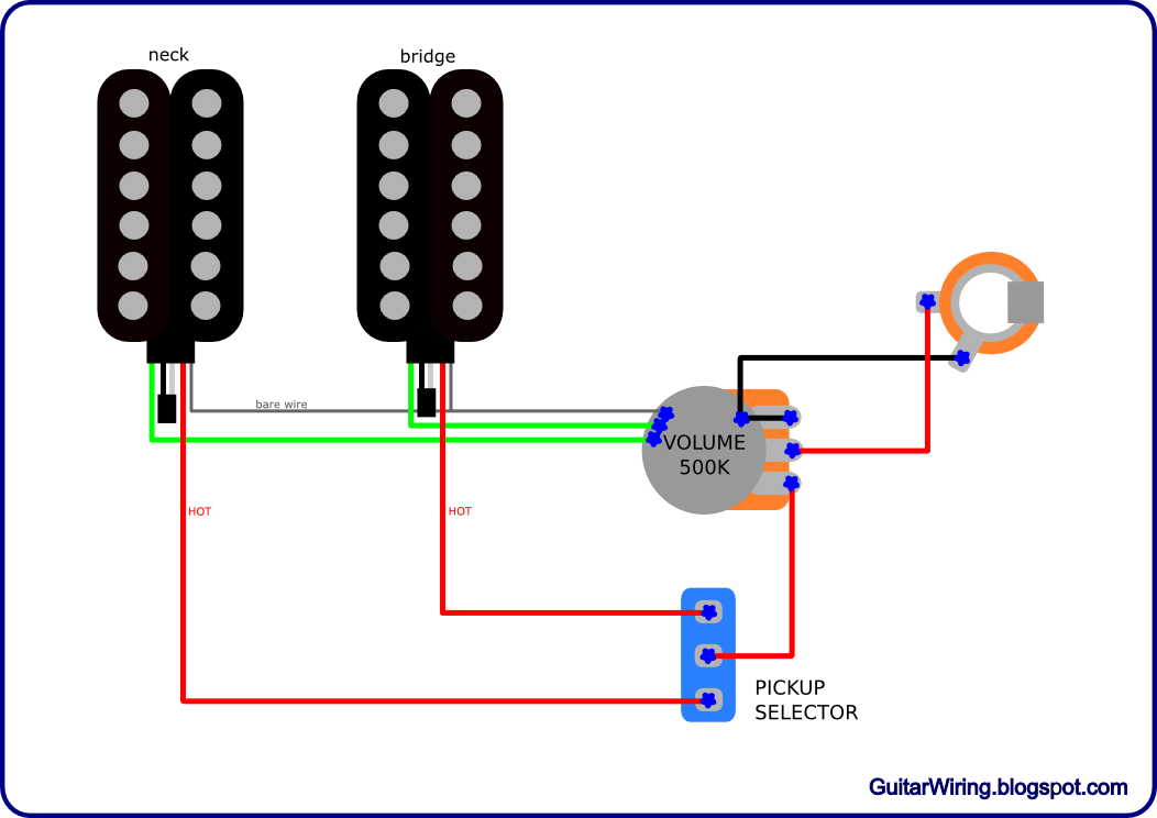 The guitar wiring blog diagrams and tips simple wiring in the on dean guitar wiring diagrams Teisco Guitar Wiring Diagram Electric Guitar Wiring Diagram
