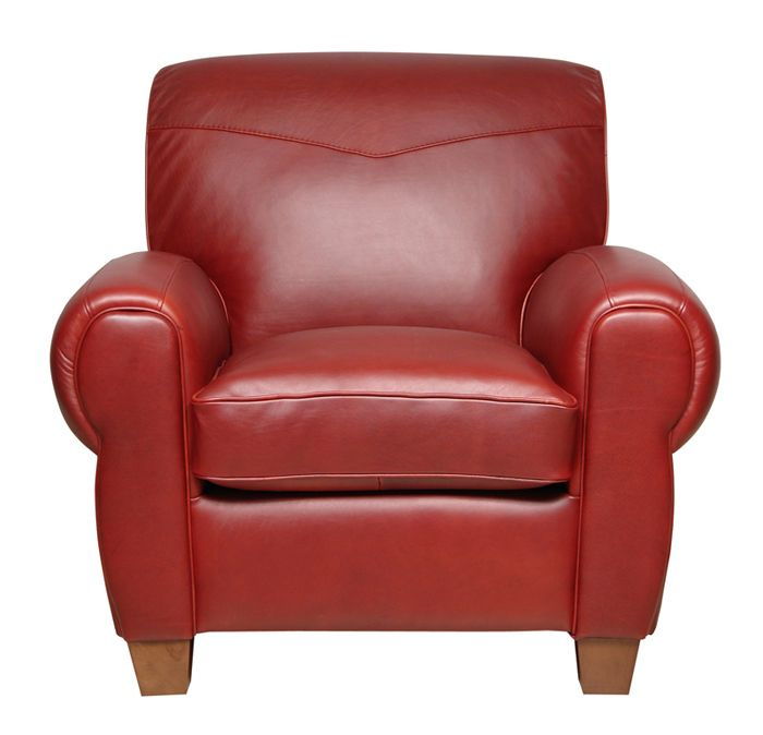 Red Club Chair With Ottoman Furniture New Red Italian
