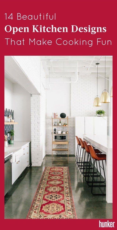 14 Beautiful Open Kitchen Designs That Make Cooking Fun | Pinterest ...