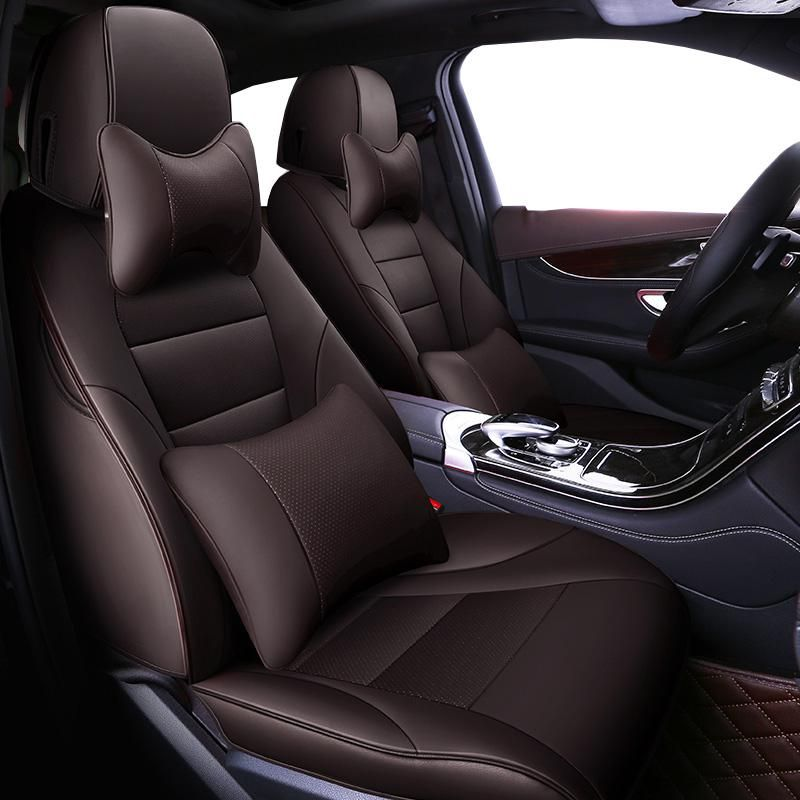 Auto Universal Cowhide Leather Seat Cover For Audi A6l Q3 Q5 Q7 S4
