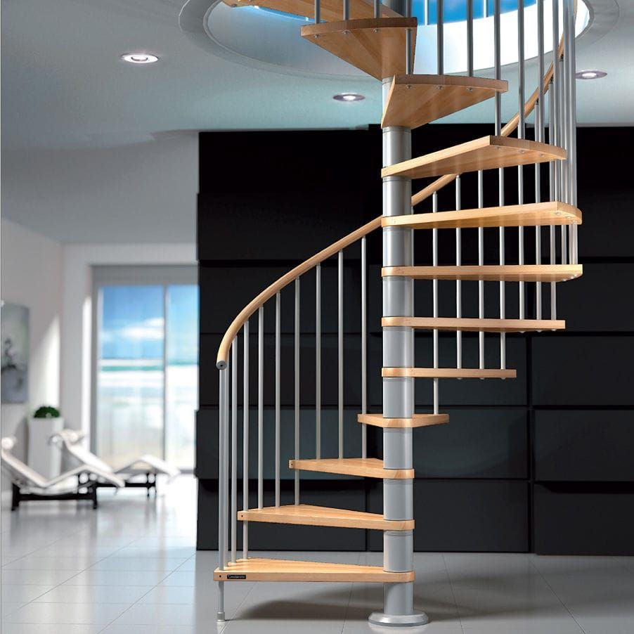 Best Staircase In Wood Timber Effect For The Handrail Metal 400 x 300