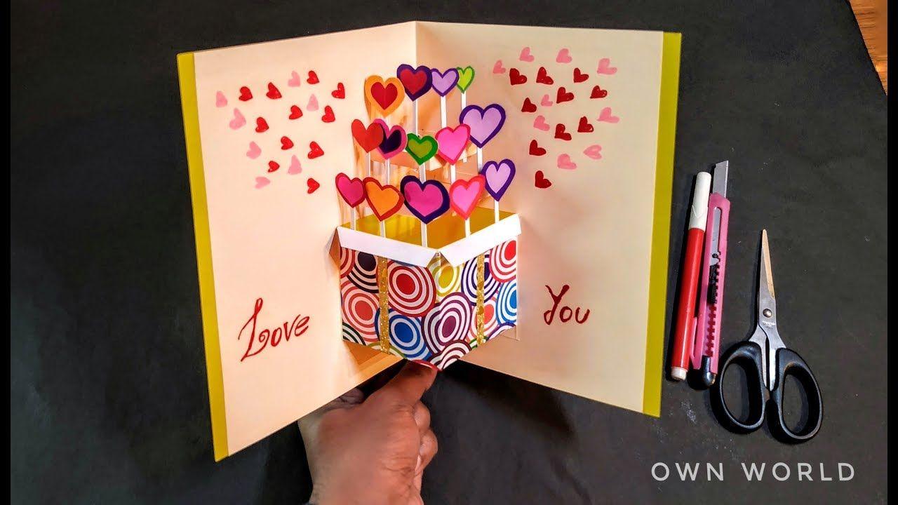 Beautiful Birthday Greeting Card Idea Diy Friendship Day Pop Up