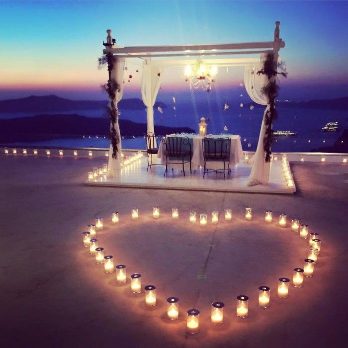Wedding Proposal Ideas Beach: This Santorini Marriage Proposal Might Be The Prettiest We