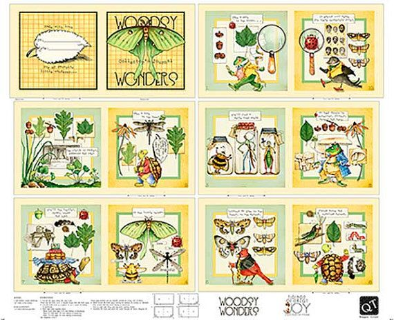 """New Edition~Woodsy Wonders Collector's Journal 24 x 44"""" by Quilting Treas Cotton Fabric~ Fast Shipping CH261"""
