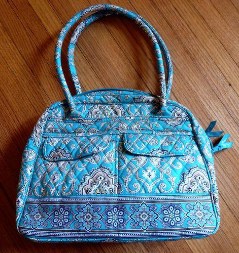 35 Starting Bid Vera Bradley Totally Turq Bowler Bag I Love S