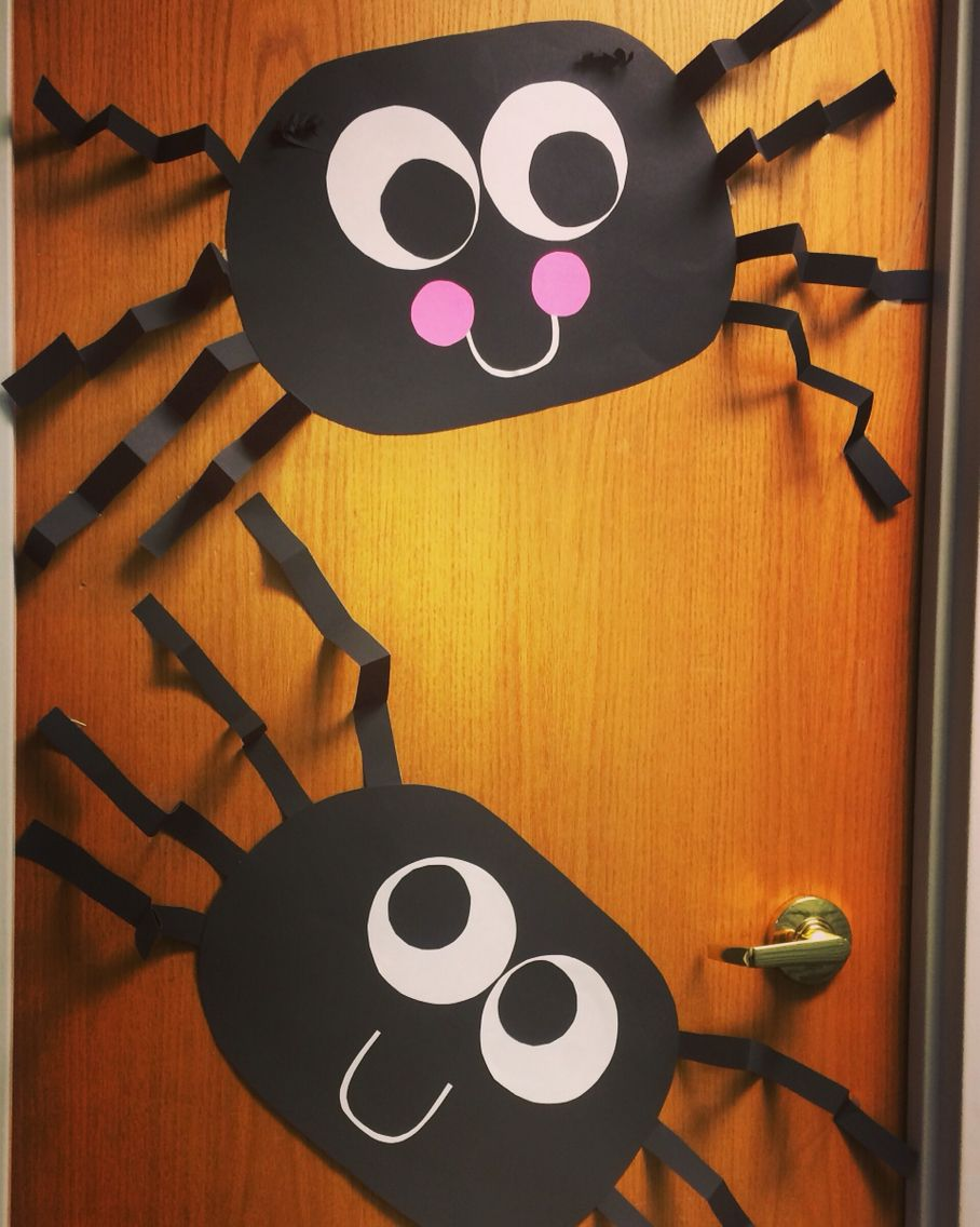 office holiday decorations. Spider Door For Halloween Decorations At The Office Holiday