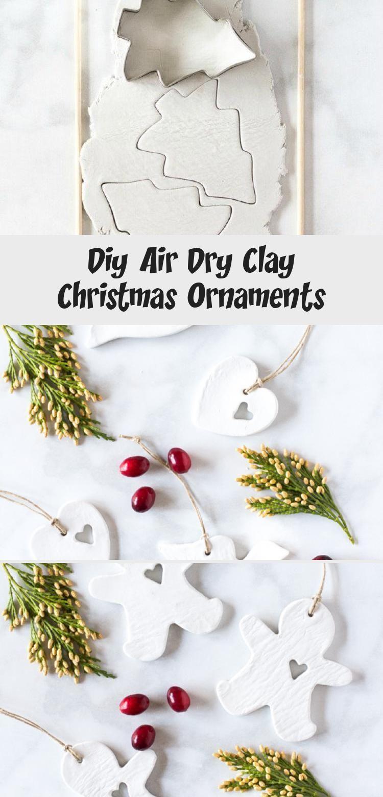 Diy Air Dry Clay Christmas Ornaments Air Christmas Clay Diy Dry Ornaments Lufttrockender Ton Gebastelte Weihnachtsdekoration Herzlich