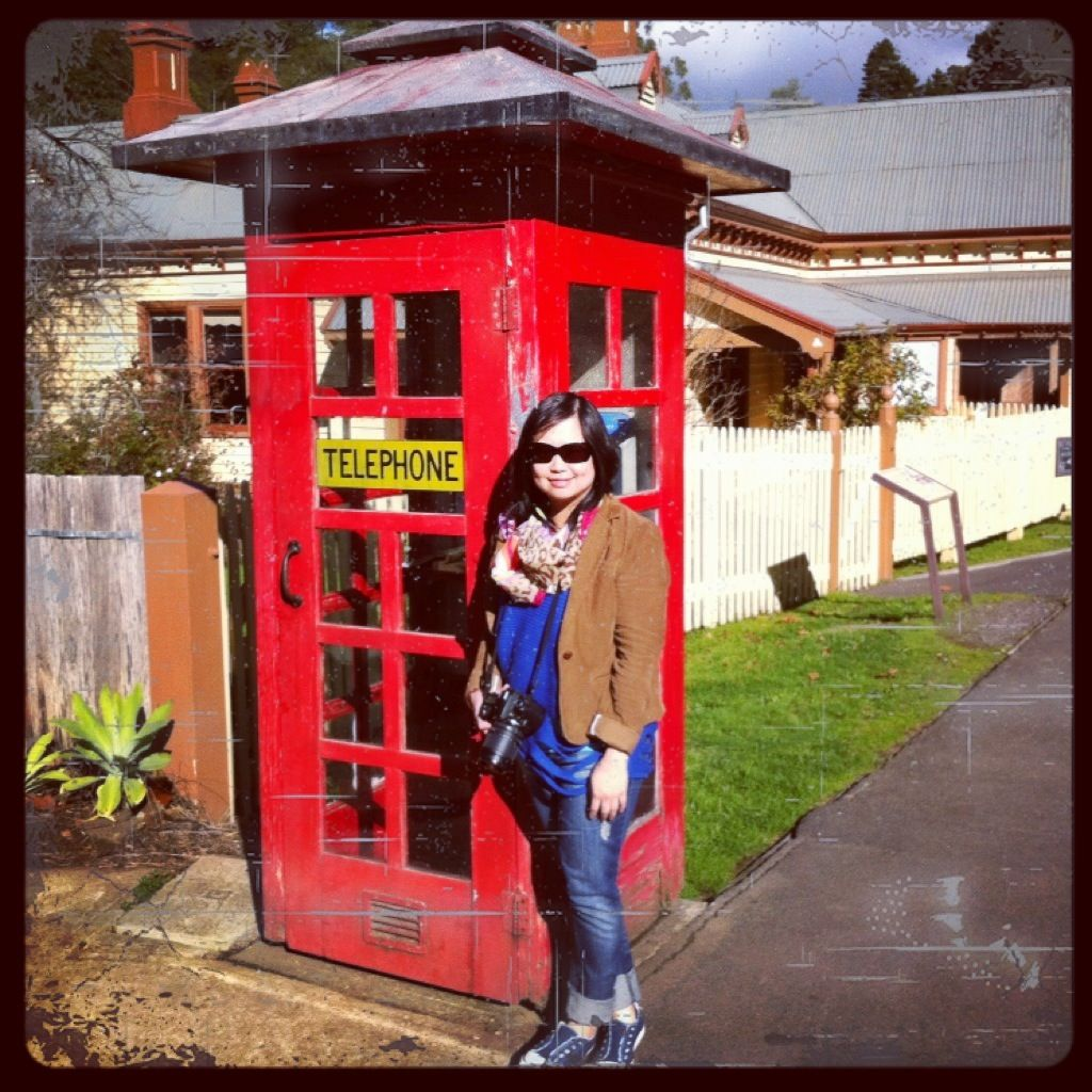 Awesome Telephone Booth at Walhalla Town, Victoria