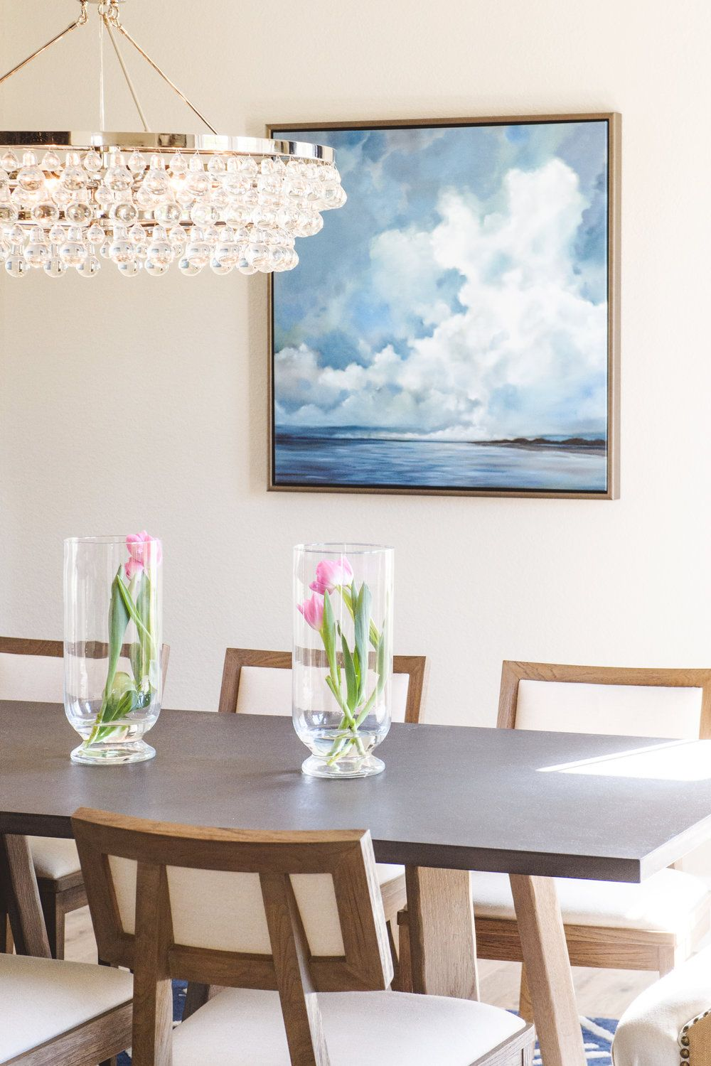 Bling Chandelier From Interior Designers At Savvy Interiors |  SavvyInteriors.com #Chandelier #diningroom