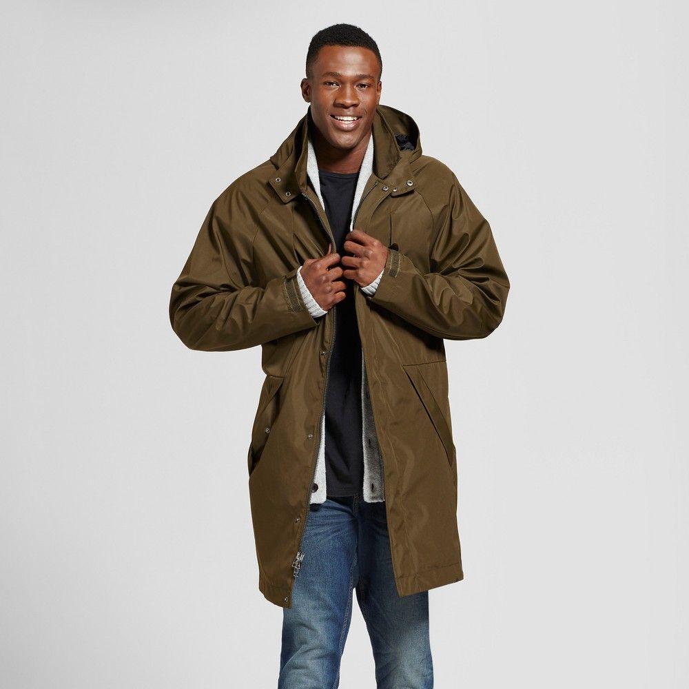 aa82100af Men's Big & Tall Modern Rain Jacket - Goodfellow & Co Olive 4XBT, Green