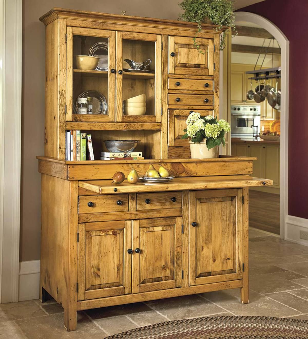 Large Stained Finish Conestoga Cupboard In 2020 Country Kitchen