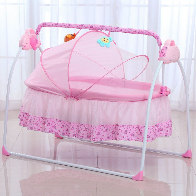 Big Space Electric Baby Crib Infant Rocker Baby Swing Bed Baby