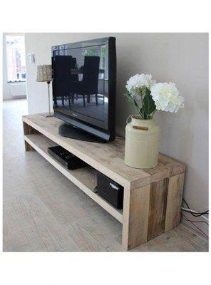 mobile basso porta tv in legno stile vintage 150x45x45 | wall ... - Mobili Tv Bassi Moderni