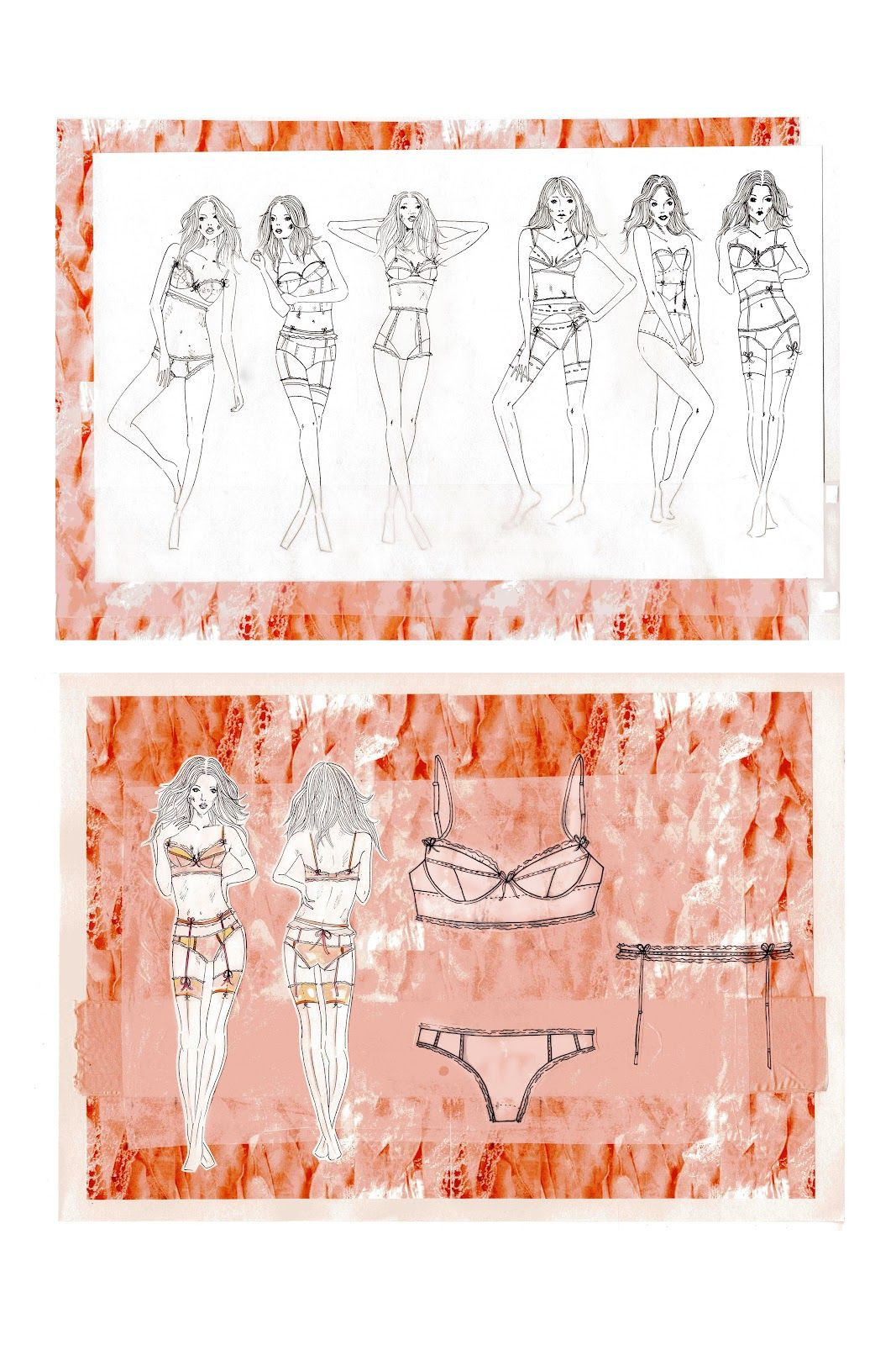 fashion sketchbook contour fashion design board