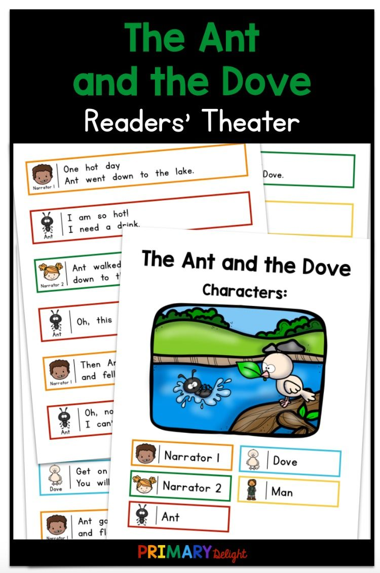 The Ant And The Dove Readers Theater Readers Theater First Grade Reading Teaching Elementary [ 1131 x 750 Pixel ]