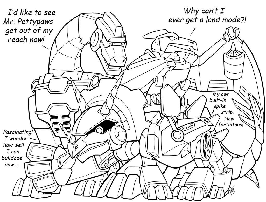Free rescue bots coloring pages - Dino Rbs Update By Coloring Book Pages