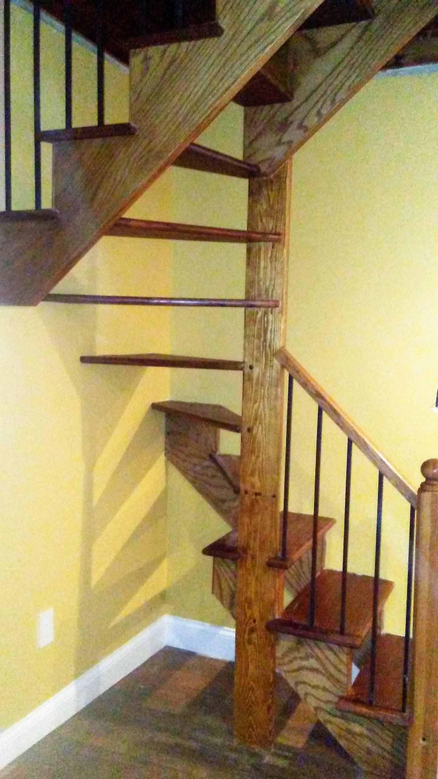 The Customer Only Had A Pull Down Ladder To Access His Attic So My Husband  Designed · Spiral StaircasesLadderMy ...