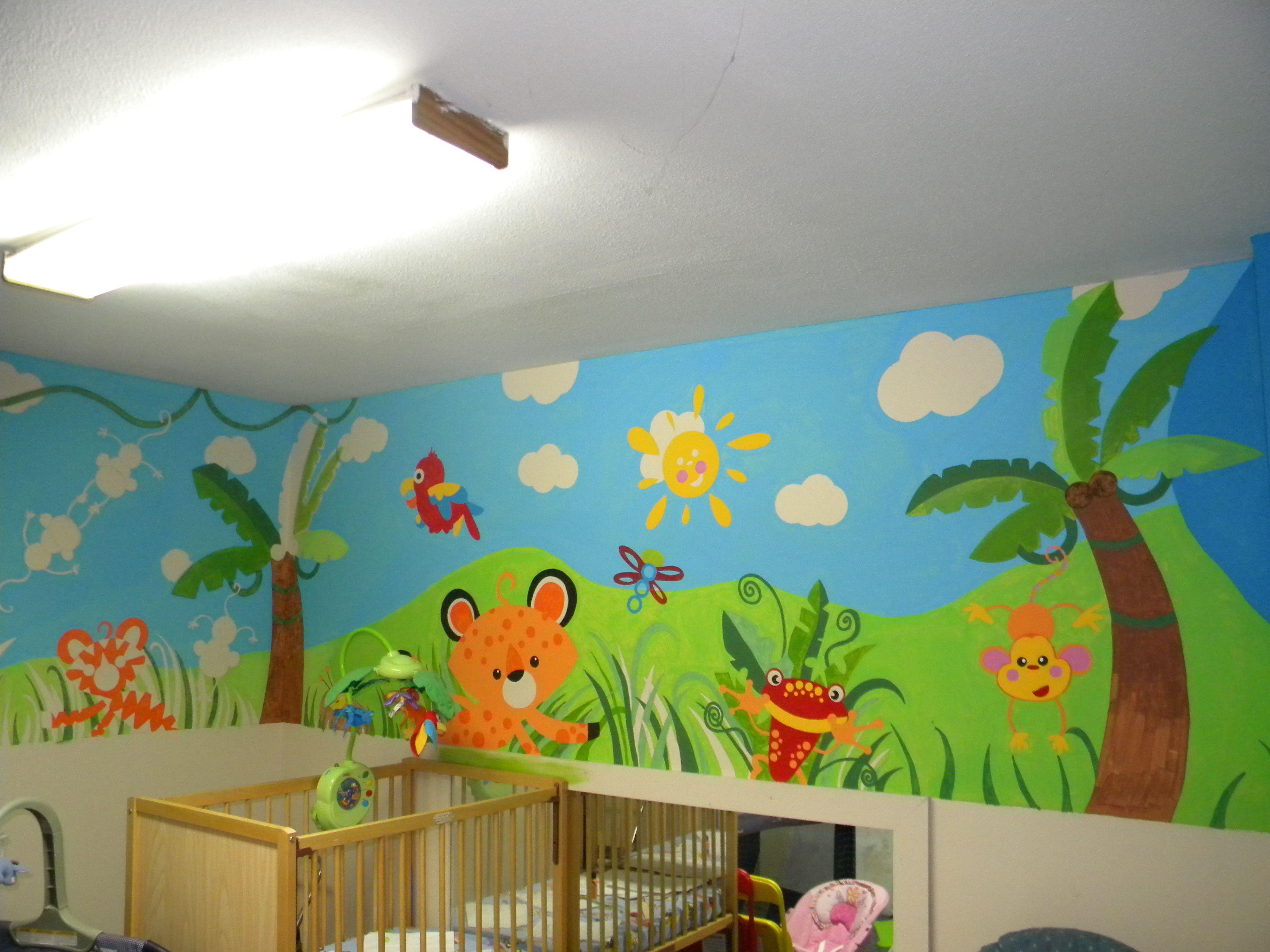 Nursery Jungle Theme Mural