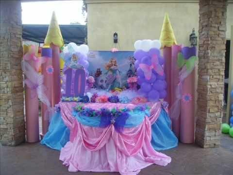 fiestas infantiles princesas decoazul decoracion