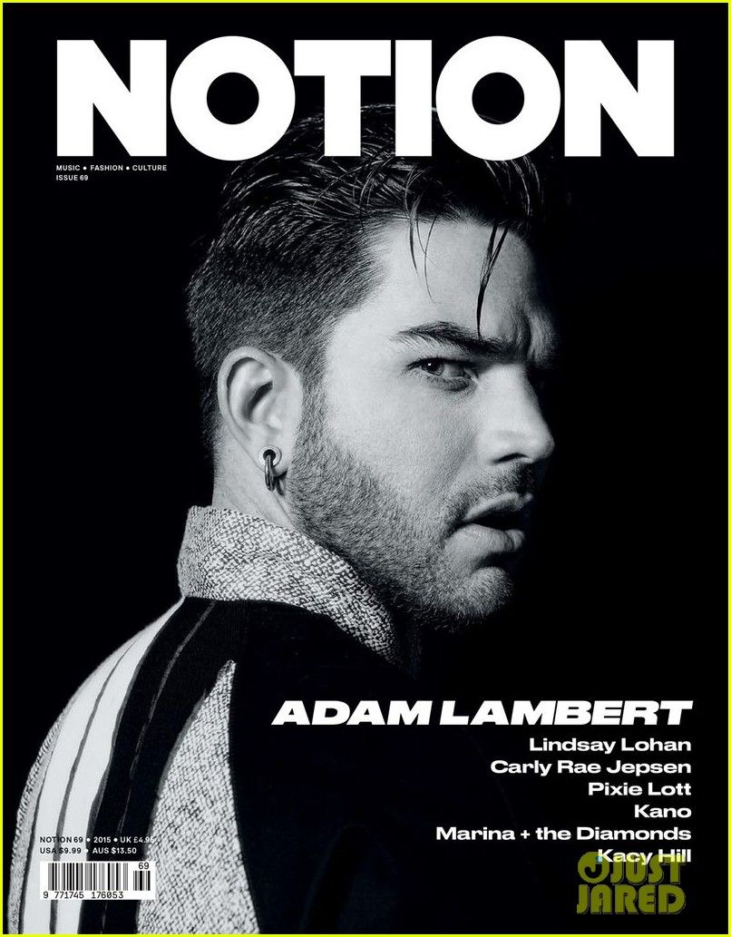 adam lambert opens up about fame in notion 02 Adam Lambert looks hotter than ever on the cover of Notion magazine's May 2015 music issue, out on newsstands on Friday (April 24)!    Here's what the 33-year-old…
