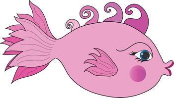 Fish Cartoon Clip Art Free Clip Art Picture Of A Pink Girl Fish