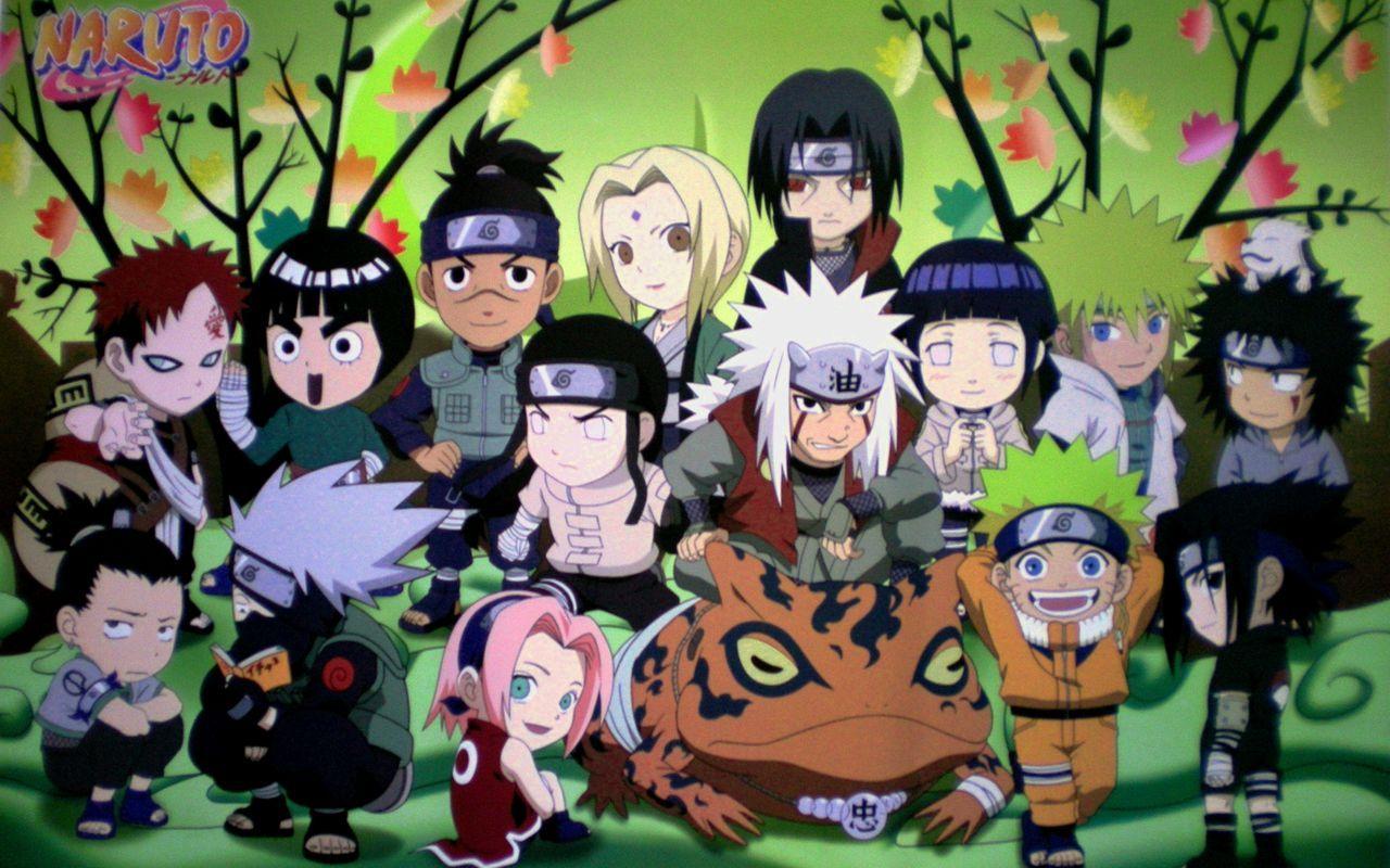 Wallpaper Laptop Naruto Animasi, Chibi, Gaara