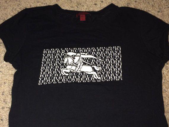 Sale Vintage BURBERRY Sport womens black T-shirt by casualisme ...
