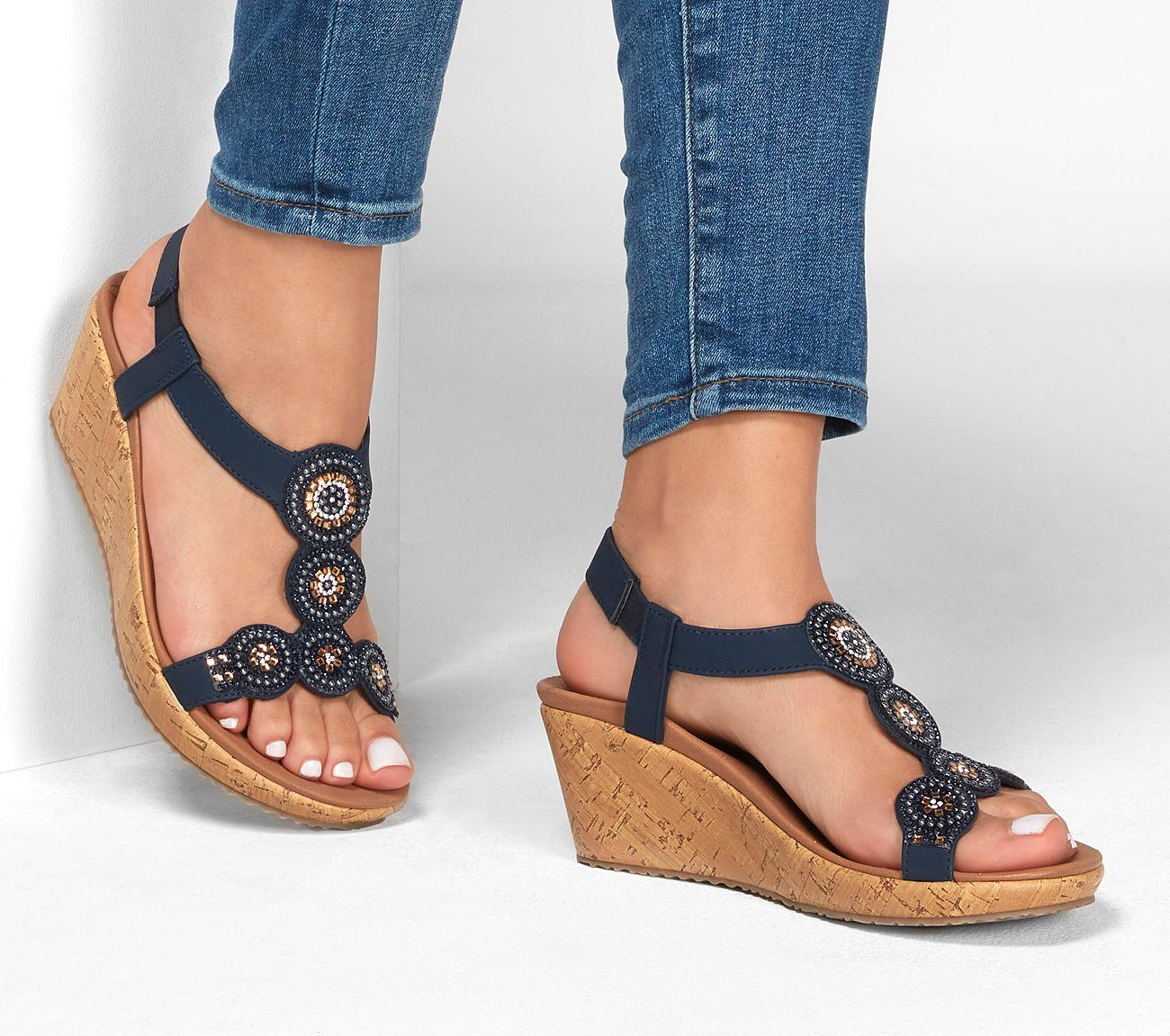 Shop The Beverlee Date Glam Sandal In 2020 Glam Sandals Skechers Women Fashion Slides