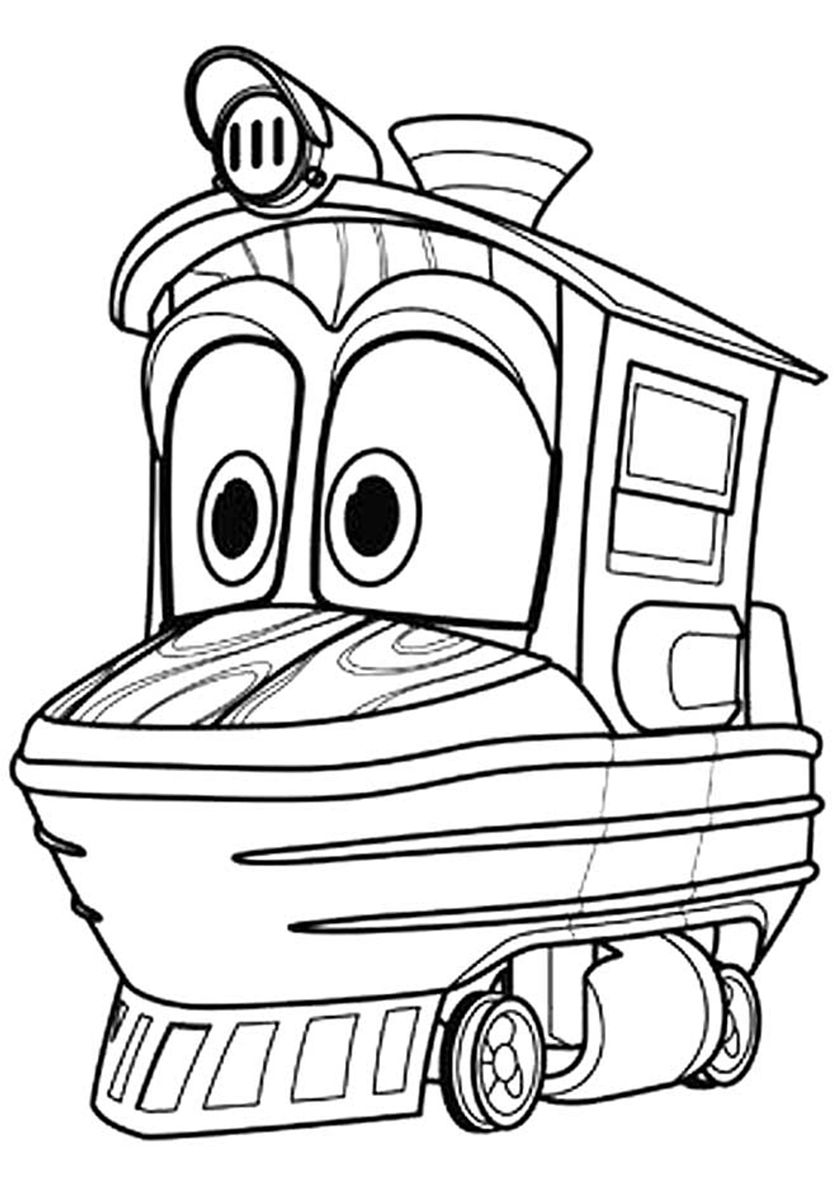 Duck (With images) Cartoon coloring pages, Train