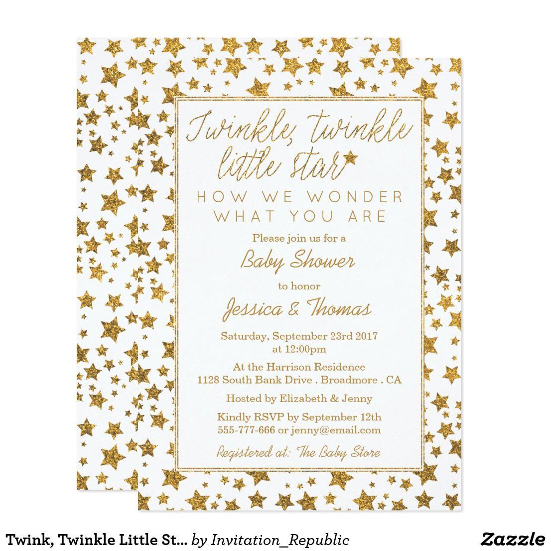 Twink, Twinkle Little Star Baby Shower Card Twink, Twinkle Little ...