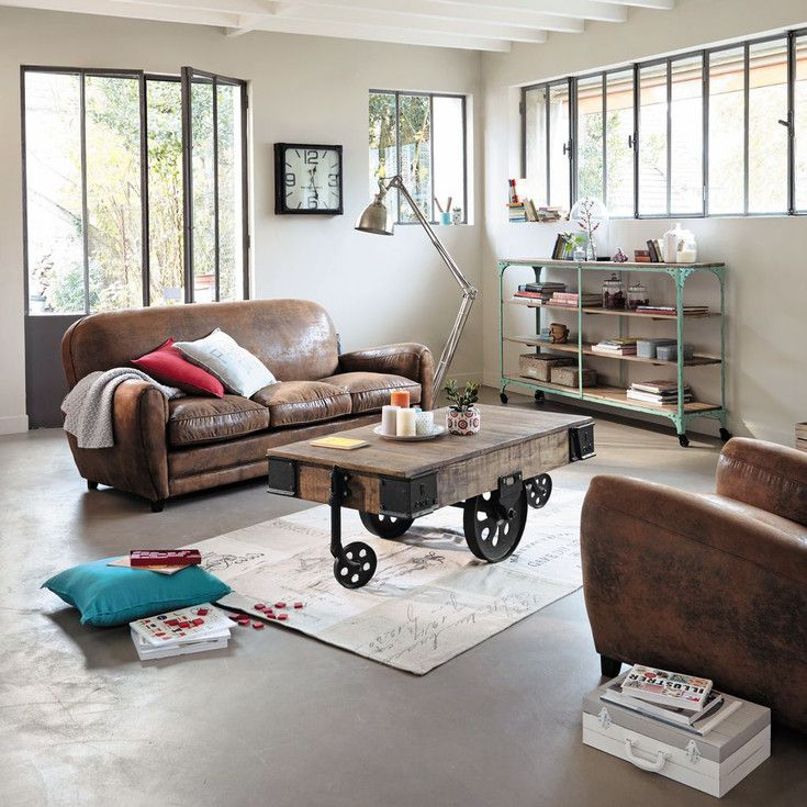 Meubles et d coration de style industriel loft factory for Canape loft maison du monde
