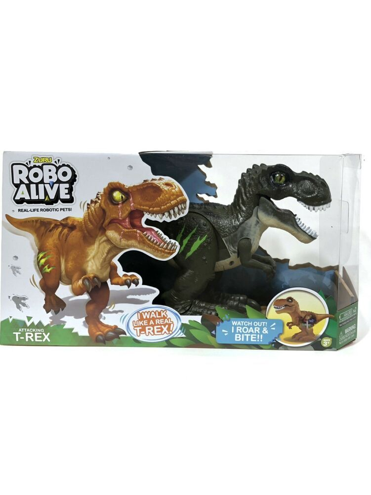 Zuru Robo Alive Attacking T Rex Robotic Pet Green Dinosaur New Pets Rex Dinosaur
