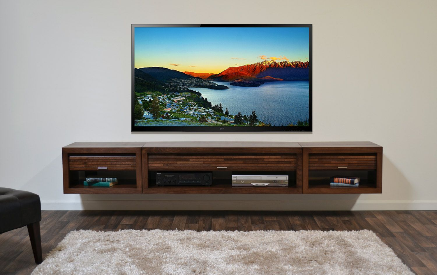 Beau Cute Floating Media Cabinet For Modern Furniture Ideas: Beautiful Floating Media  Cabinet For Modern Furniture Ideas With Floating Cabinet Under Tv