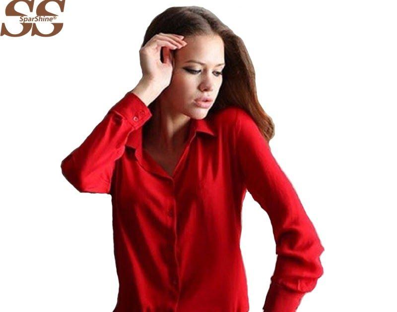 6db0a2d7a290f9 SALE 5 Colors Work Wear 2018 Women Shirt Chiffon Blusas Femininas Tops  Elegant Ladies Formal Office Blouse 3XL Solid Shirt Women