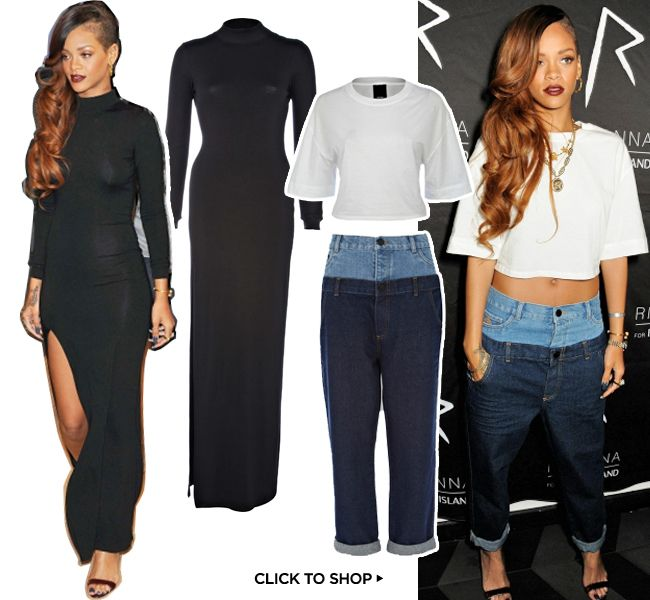 I like both of Rihannnas  outfits, but I prefer the black dress more