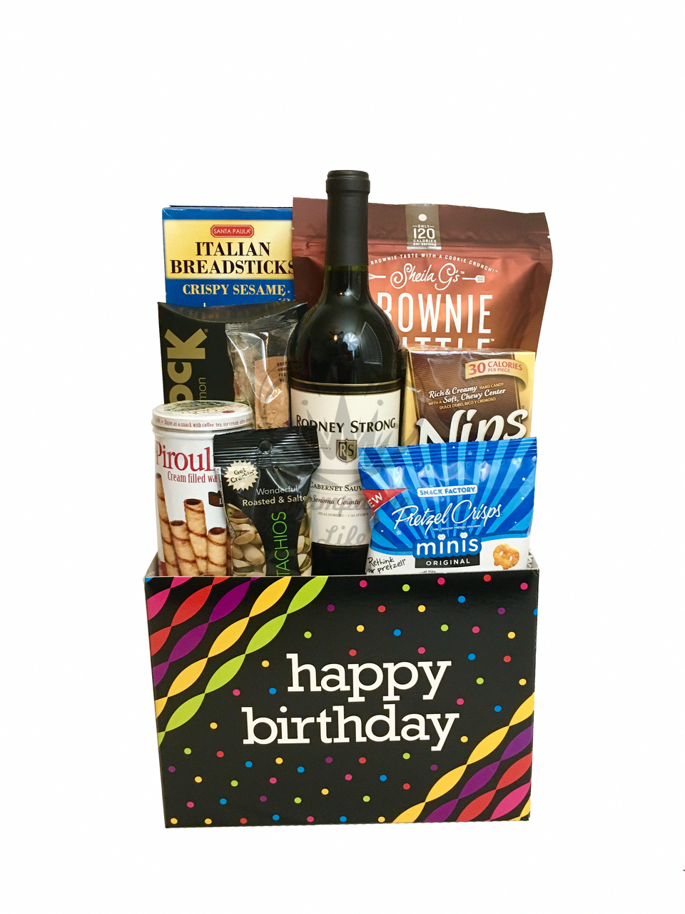 The Wine Birthday Gift Box Is Available For Same Day Delivery In Las Vegas NV