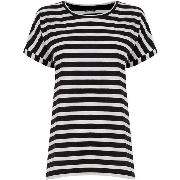 65afcf7bf37a4 Warehouse Sailor Stripe Tee ( 23) ❤ liked on Polyvore featuring tops