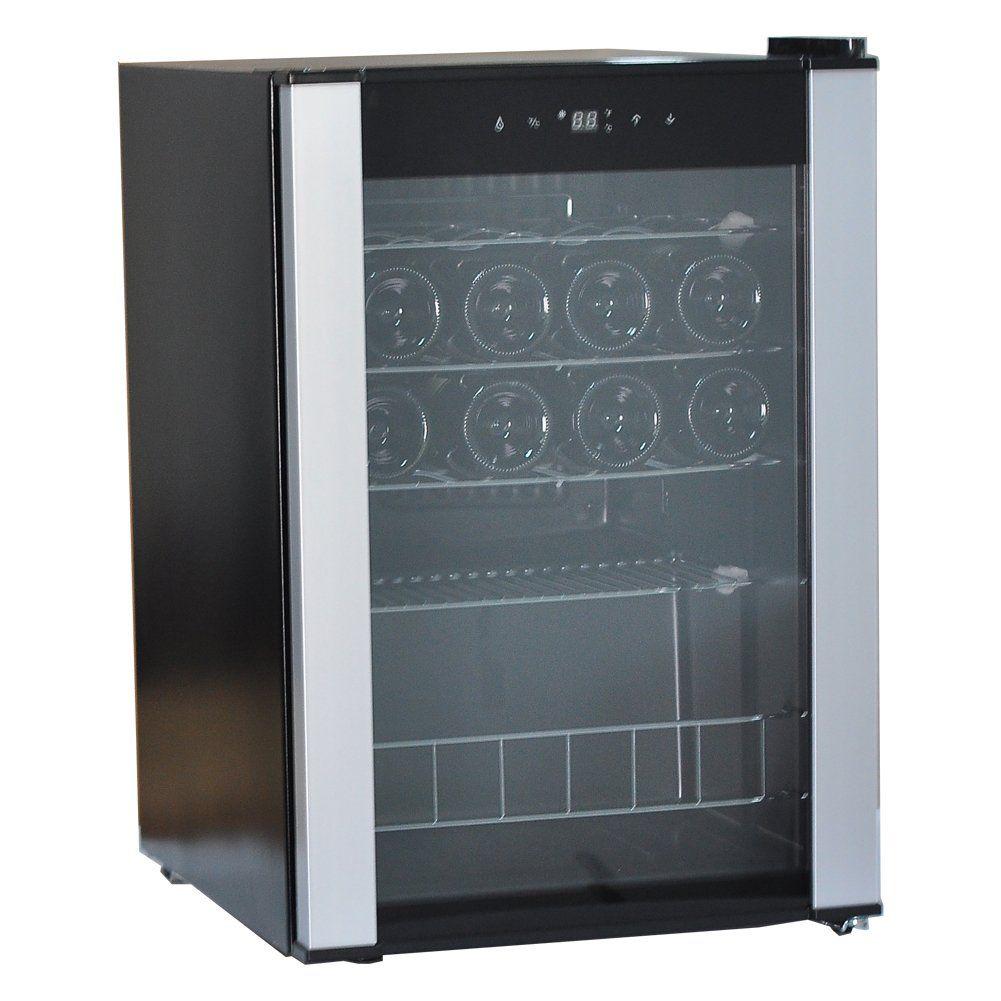 Smad 19 Bottles Wine Refrigerator Compressor Single Zone Free
