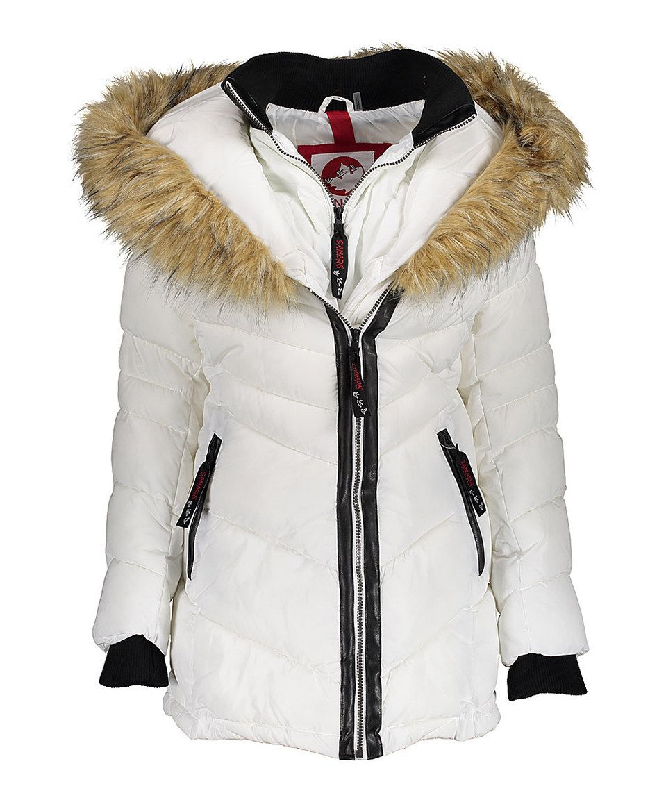 Loving this Canada Weather Gear White FurLined Three