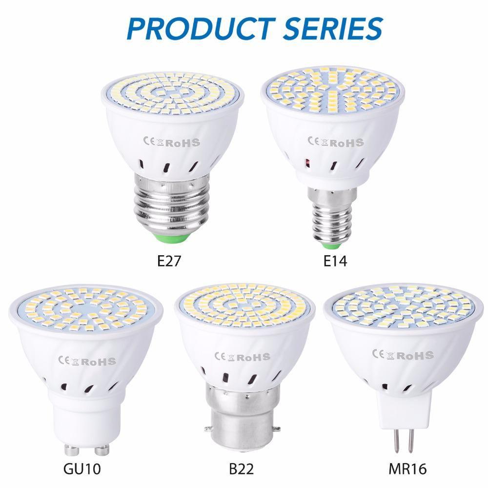 E27 Led Corn Bulb Gu10 Led Lamp E14 Spotlight Mr16 220v Lampada 2835smd 48 60 80leds Bombillas B22 Spot Light Bulb For Home Deco Yest In 2020 Spotlight Bulbs Light Bulb Bulb
